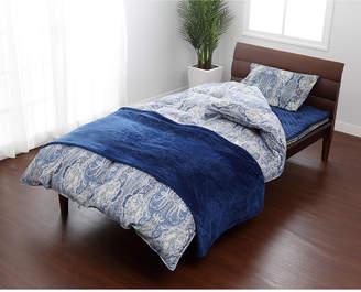Nishikawa ブルー 羽毛掛けふとん、敷きふとん、枕、カバー、毛布、敷きパッドまで揃ったお買い得ダブルサイズ 10点セット