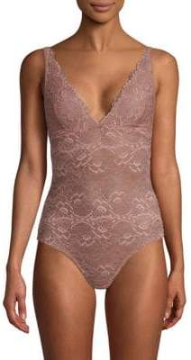 Samantha Chang All Lace V-Neck Bodysuit