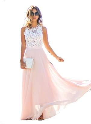 Gaosa Women Summer Lace Maxi Long Dress Evening Party Prom Dress Sundress Chiffon Dress