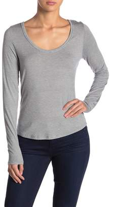 8a0e4c4eea3c96 Melrose and Market Scoop Neck Striped Long Sleeve T-Shirt