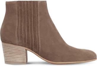 Vince Ladies Beige Haider Slip-On Suede Boots