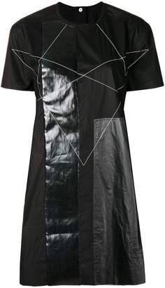 Rick Owens panelled contrast stitch T-shirt