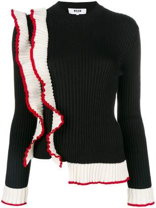 MSGM ruffled knit jumper