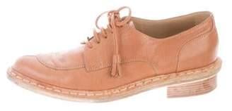 Balenciaga Pointed-Toe Leather Oxfords