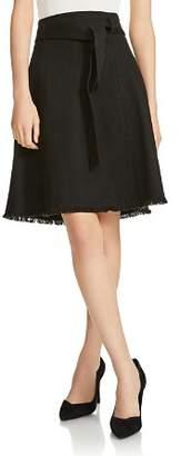 Maje Jibella Frayed-Hem Denim Skirt