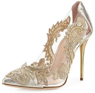 Oscar de la Renta Aylissa Crystal-Embellished Pump, Smoke $1,190 thestylecure.com