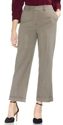 Vince Camuto Country Houndstooth Check Cuff Crop Pants