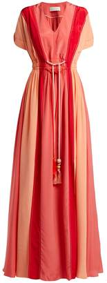 Peter Pilotto Panelled silk crepe de Chine gown