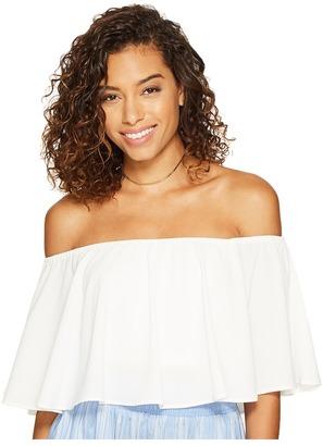 Show Me Your Mumu - Heidi Ruffle Crop Top Women's Clothing $96 thestylecure.com