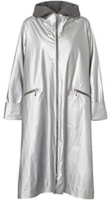 Mcverdi Silver Coat With Long Zipper