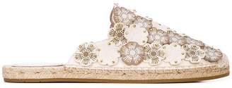 Coach floral appliqué slip-on espadrilles