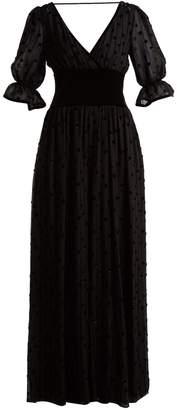 Valentino Silk georgette & velvet jumpsuit