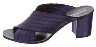 Pedro Garcia Satin Slide Sandals Satin Slide Sandals