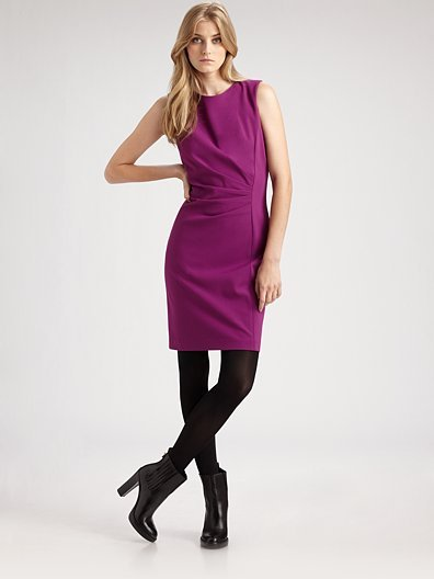 Elie Tahari Stretch Knit Sheath Dress
