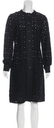 Bottega Veneta Open Knit Button-Up Dress