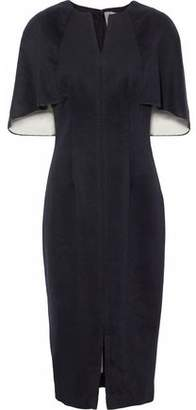 Lela Rose Cape-Back Wool And Cashmere-Blend Felt Dress