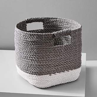 west elm Two-Tone Woven Baskets – Gray/White