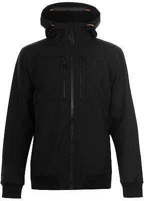 Karrimor Mens k100 Soft Shell Funnel Jacket Coat Top Neck Breathable Hooded Zip