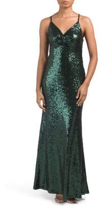 Juniors Sequin Gown