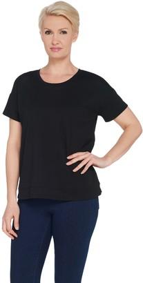 Joan Rivers Classics Collection Joan Rivers Wardrobe Builders Tee Shirt with Hem Detail