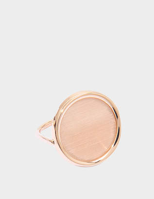 ginette_ny Brush Gold 18-karat rose gold Disc ring