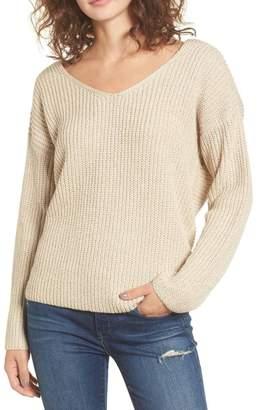Astr Twist Back Sweater