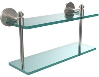 "South Beach Allied Brass Southbeach Collection 16"" 2-Tiered Glass Shelf (Build to Order)"