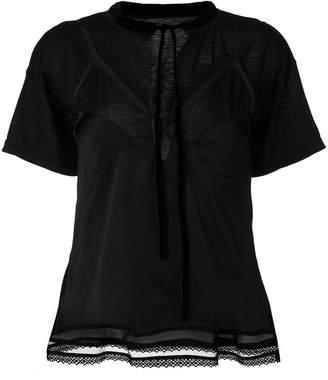 Sacai lace insert blouse