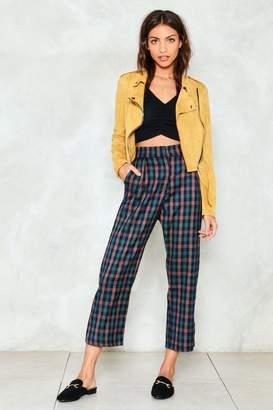 Nasty Gal Check Across Town High-Waisted Pants