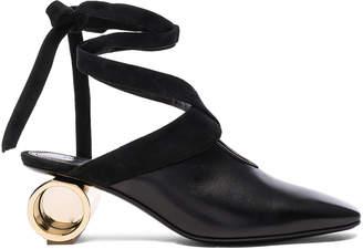 J.W.Anderson Cylinder Heel Leather Ballet Shoes