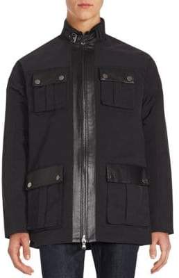 Michael Kors Stand Collar Multi-Pocket Jacket