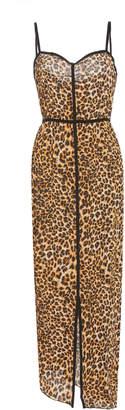 Nanushka Abir Animal-Print Midi Dress