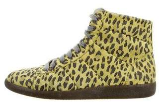 Marc Jacobs Animal Print High-Top Sneakers