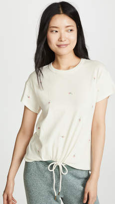 The Great The Boxy Crew Tee with Rose Embroidery