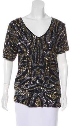 Gryphon Sequin V-Neck Top