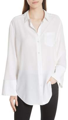 Equipment Coco Bell Sleeve Silk Blouse