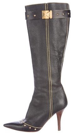 Louis Vuitton Stud Embellished Knee-High Boots