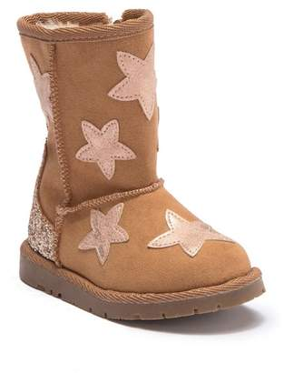 Harper Canyon Glitter & Star Faux Fur Lined Boots (Toddler)