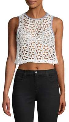ENGLISH FACTORY Floral Cropped Tank Top
