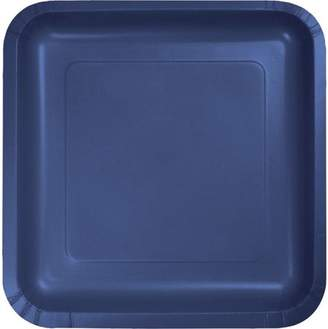 """Creative Converting Touch of Color Dinner Plate, Square, 9"""", Navy, 18 Ct"""