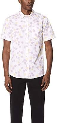 Obey Men's Felix Woven Short Sleeve Button up Shirt