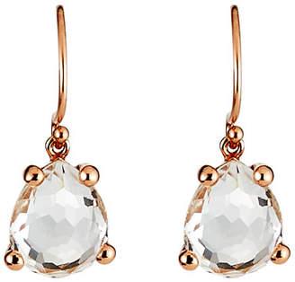 Ippolita Rose Single Pear Earrings in Clear Quartz