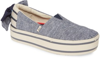 Toms Alpargata Boardwalk Platform Slip-On