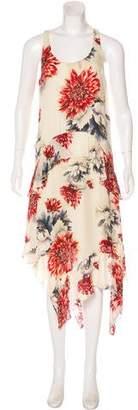 Haute Hippie Silk Sleeveless Maxi Dress