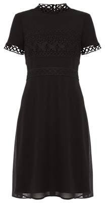 Phase Eight Ivanna Guipure Lace Dress, Black