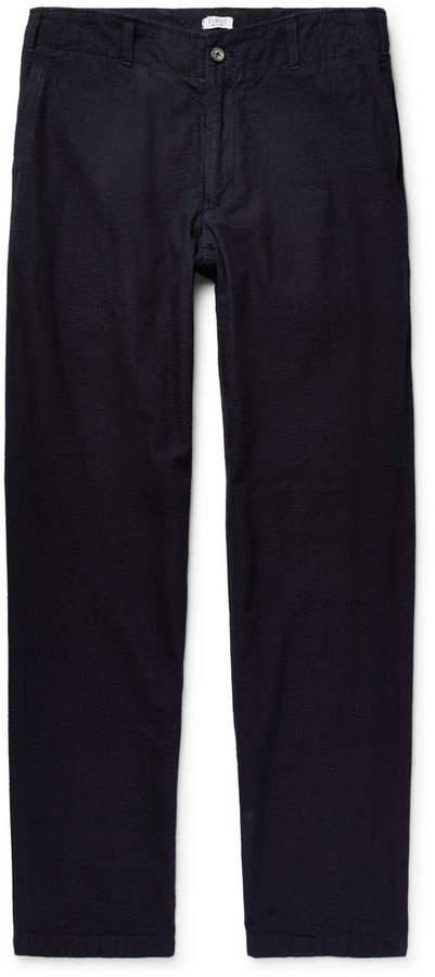 Eidos Slim-Fit Cotton-Seersucker Trousers