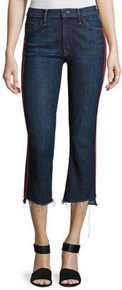 Mother Denim Insider Crop Jeans w/ Step Fray $228 thestylecure.com