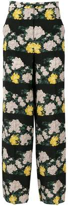 Rochas rose print trousers