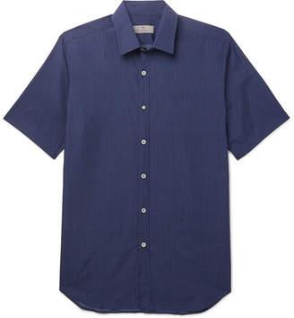 Canali Polka-Dot Cotton-Poplin Shirt