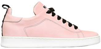 MSGM Nappa Leather Sneakers W/ Velvet Laces